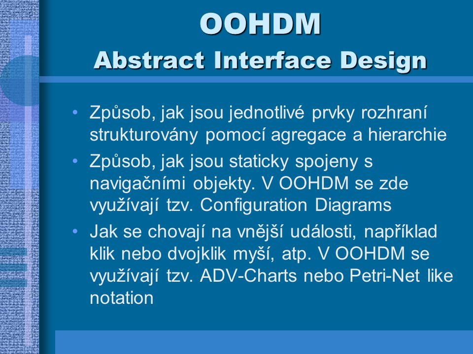 OOHDM Abstract Interface Design