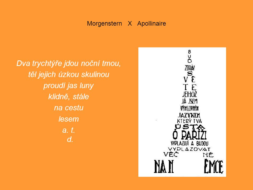 Morgenstern X Apollinaire