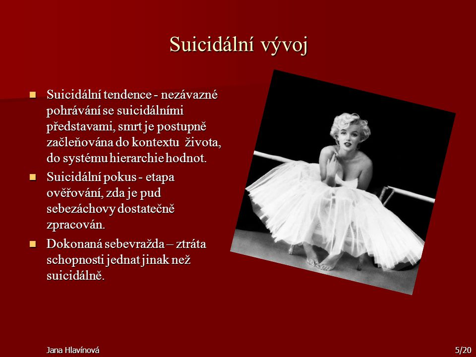 Suicidální vývoj