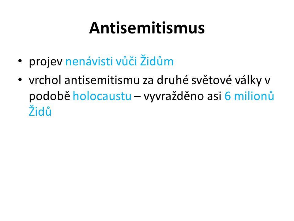 Antisemitismus projev nenávisti vůči Židům