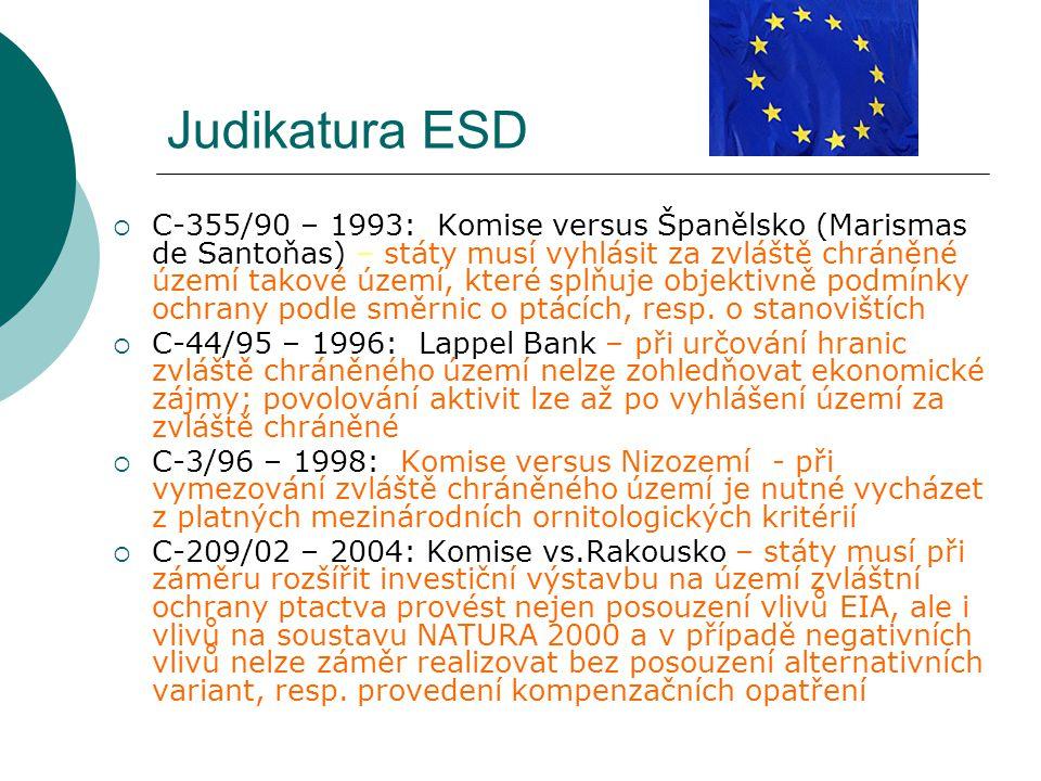 Judikatura ESD