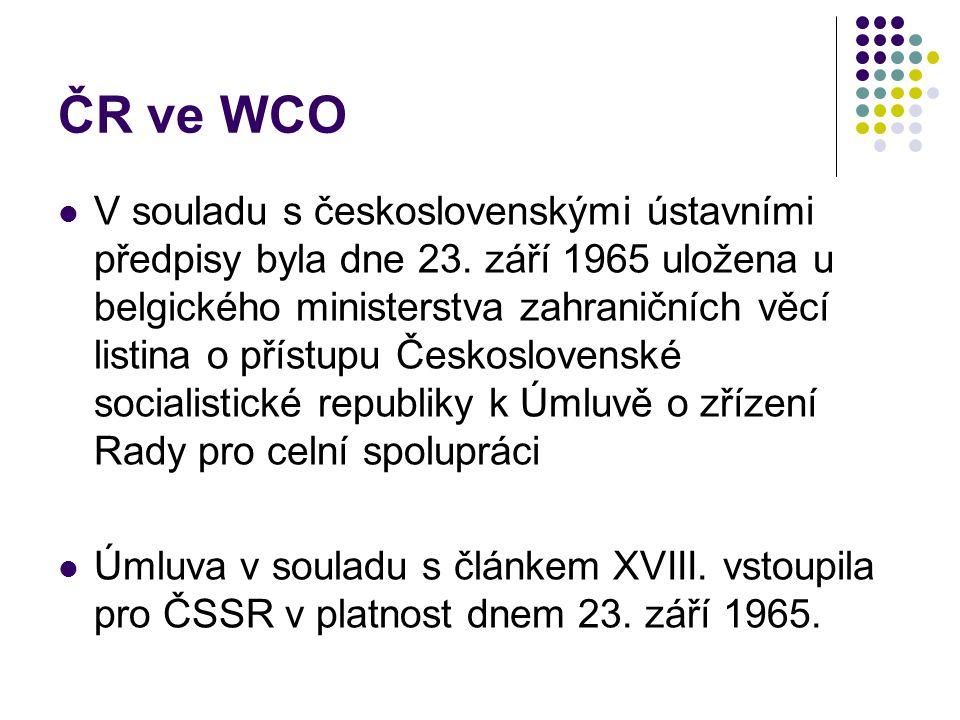 ČR ve WCO