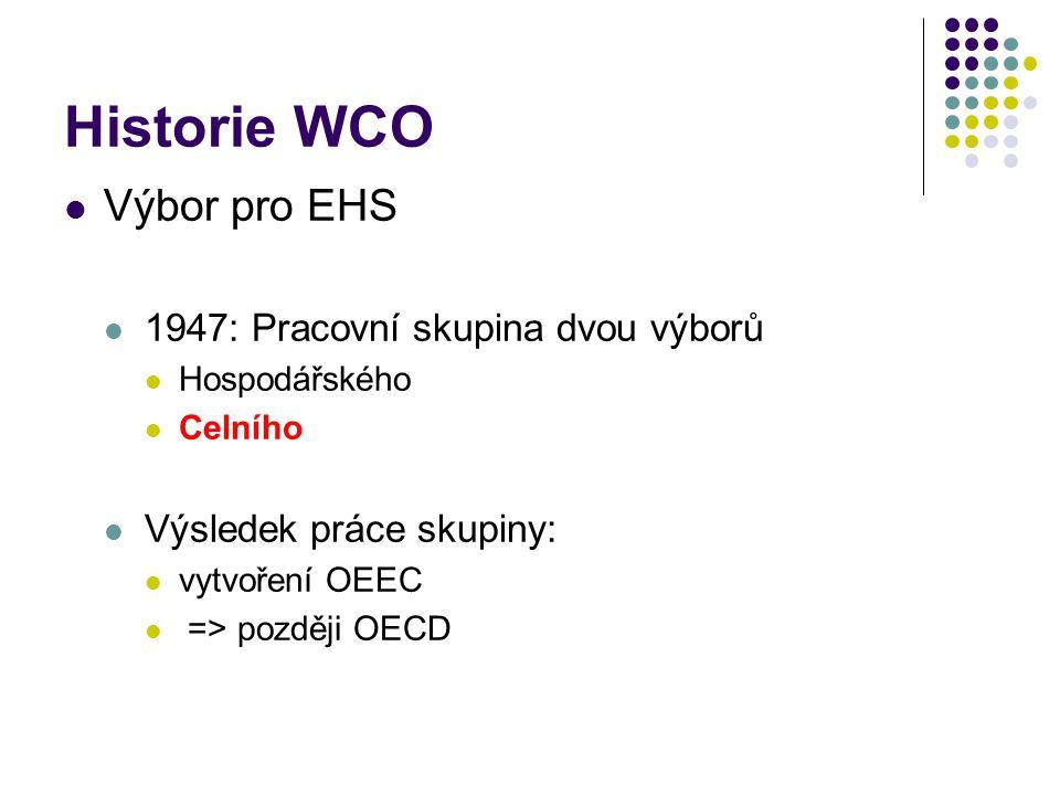 Historie WCO Výbor pro EHS 1947: Pracovní skupina dvou výborů