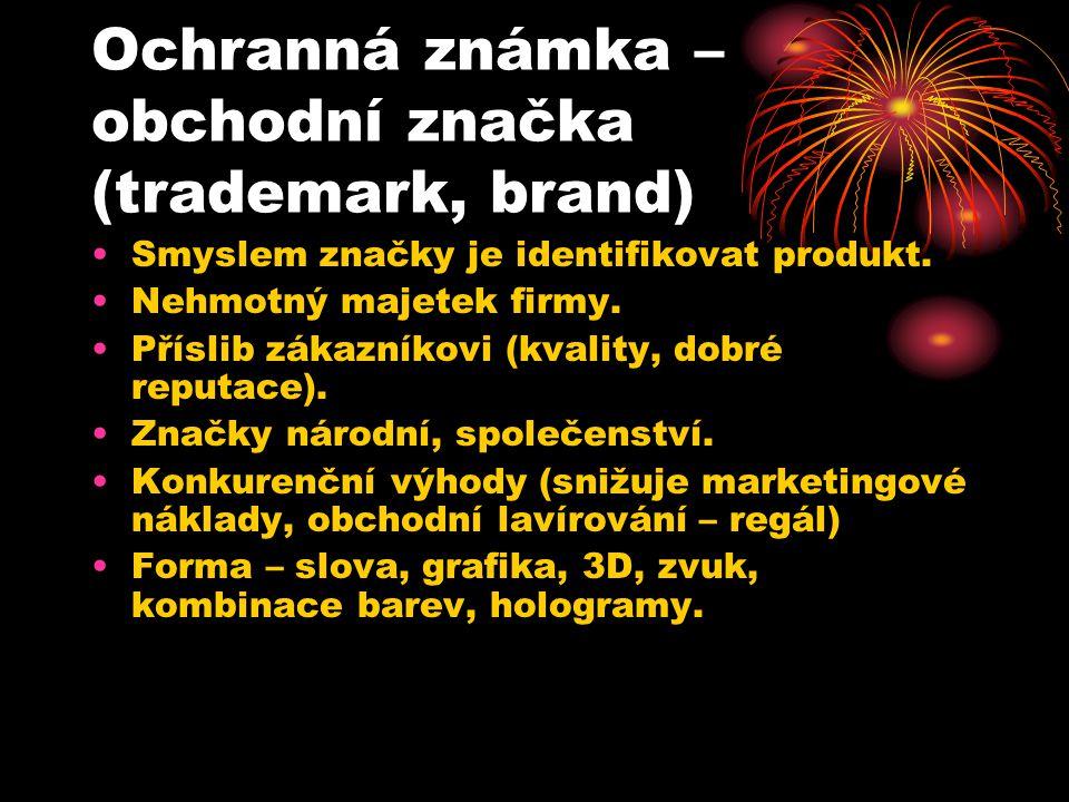 Ochranná známka – obchodní značka (trademark, brand)