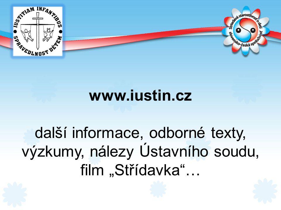 další informace, odborné texty, výzkumy, nálezy Ústavního soudu,