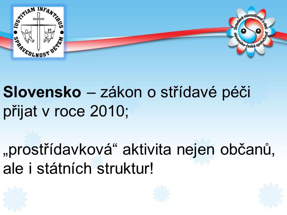 Slovensko – zákon o střídavé péči přijat v roce 2010;