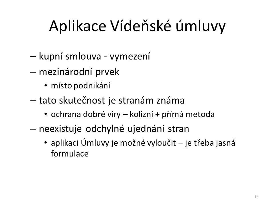 Aplikace Vídeňské úmluvy
