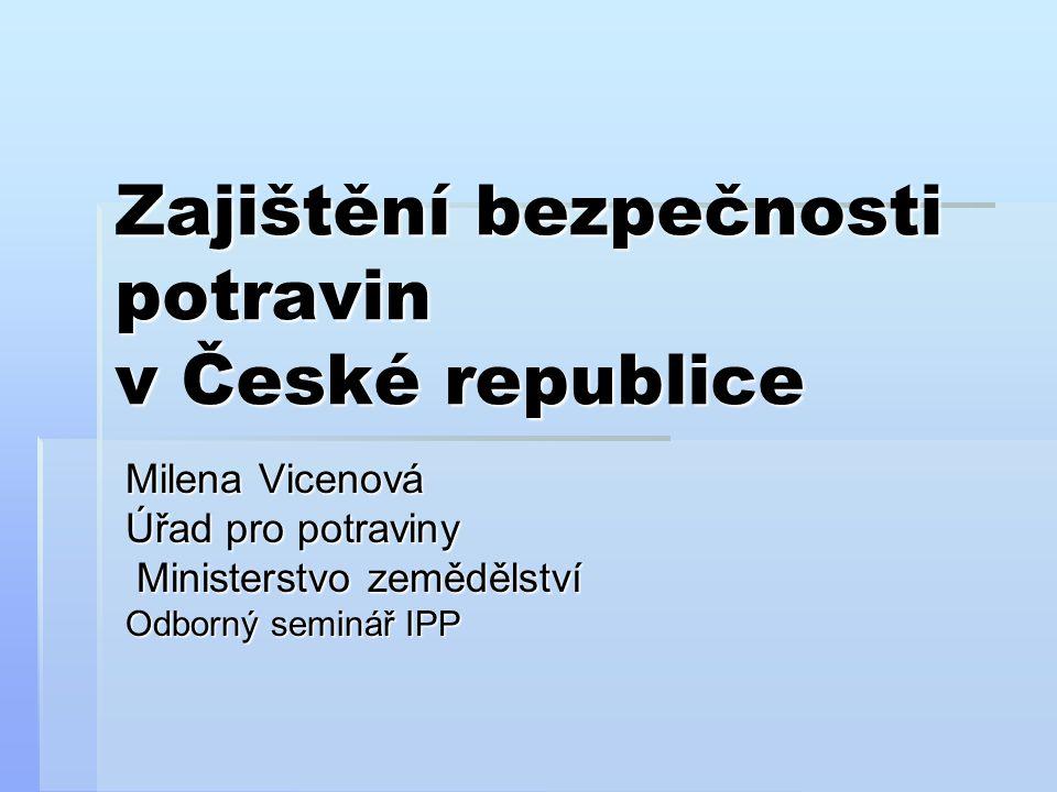 Zajištění bezpečnosti potravin v České republice