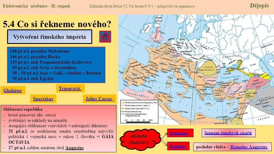 Vytvoření římského impéria