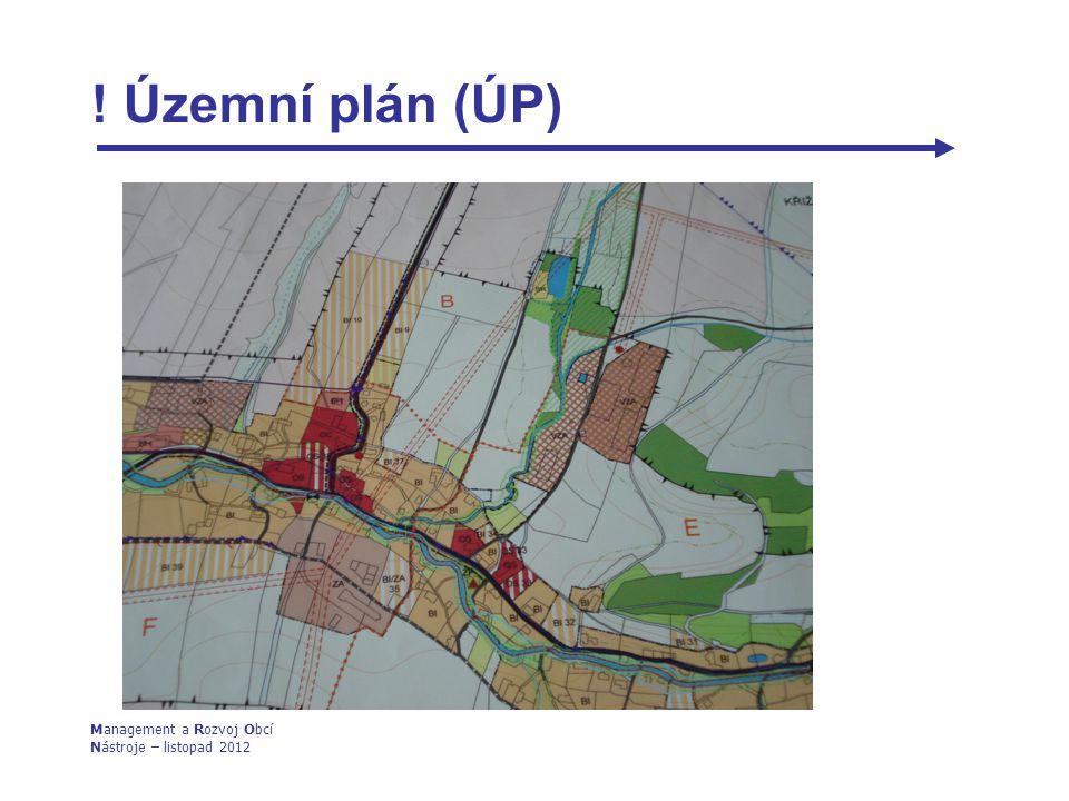 ! Územní plán (ÚP) Management a Rozvoj Obcí Nástroje – listopad 2012 1