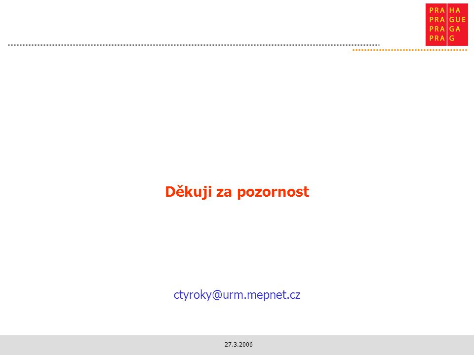 Děkuji za pozornost ctyroky@urm.mepnet.cz