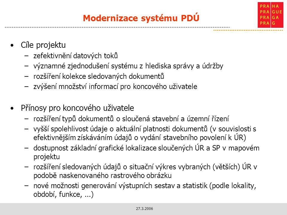 Modernizace systému PDÚ