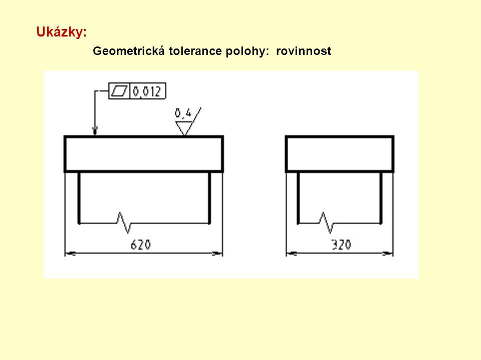 Ukázky: Geometrická tolerance polohy: rovinnost