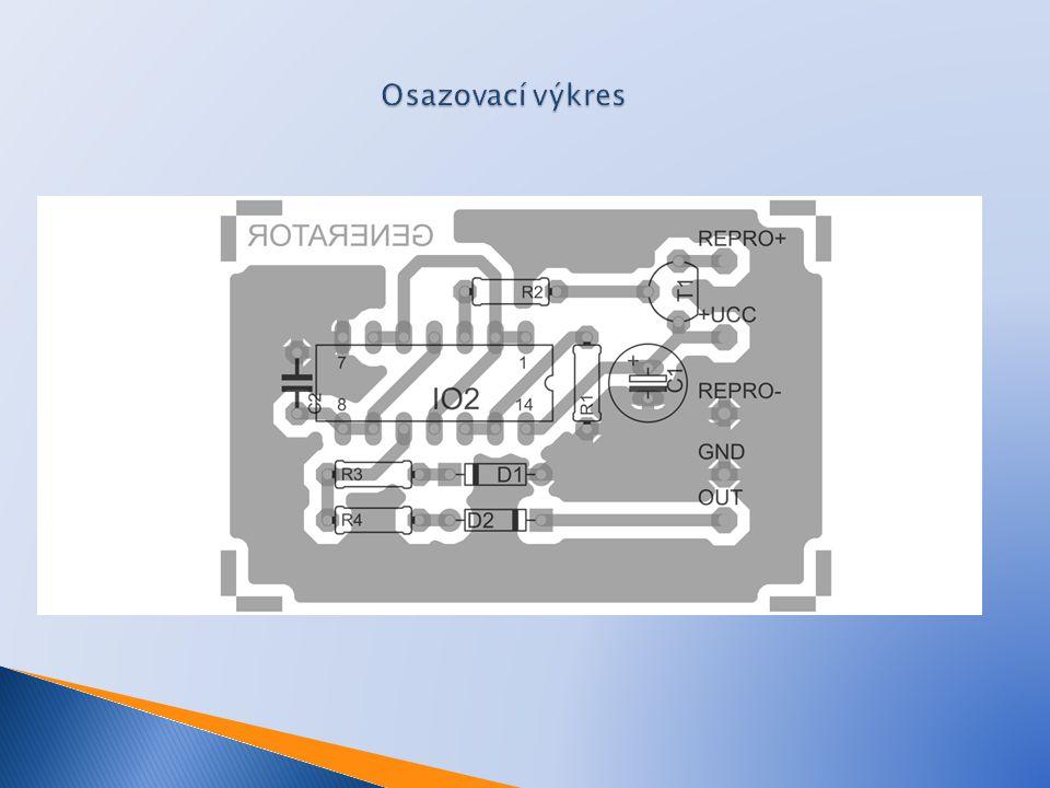 Osazovací výkres Repro – připojení speaker.