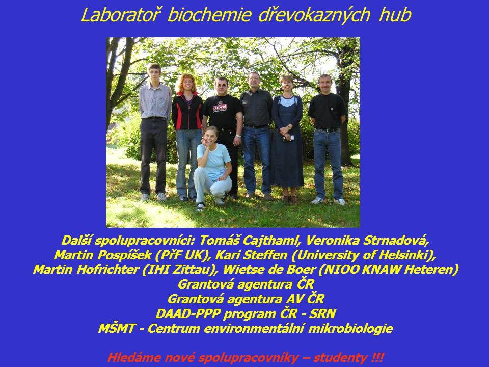 Laboratoř biochemie dřevokazných hub