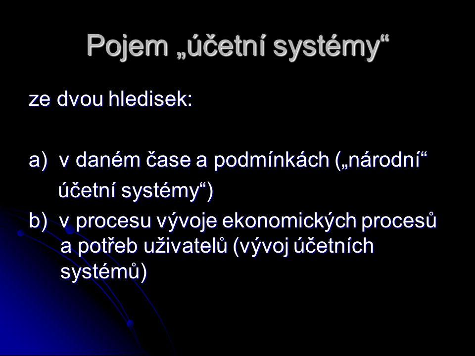 """Pojem """"účetní systémy"""