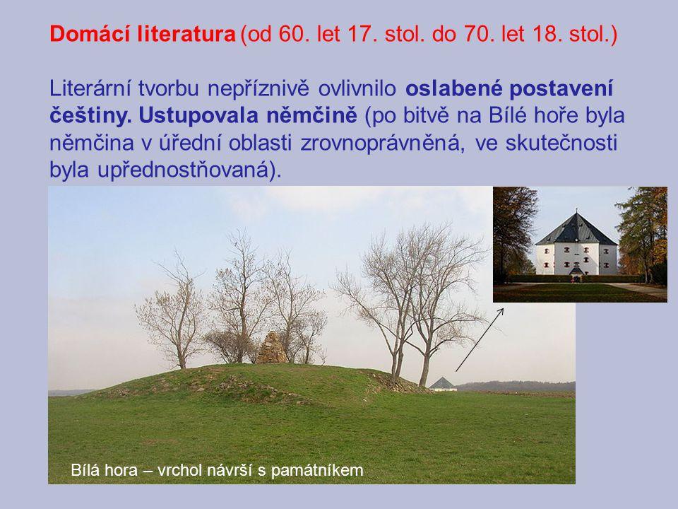 Domácí literatura (od 60. let 17. stol. do 70. let 18. stol.)