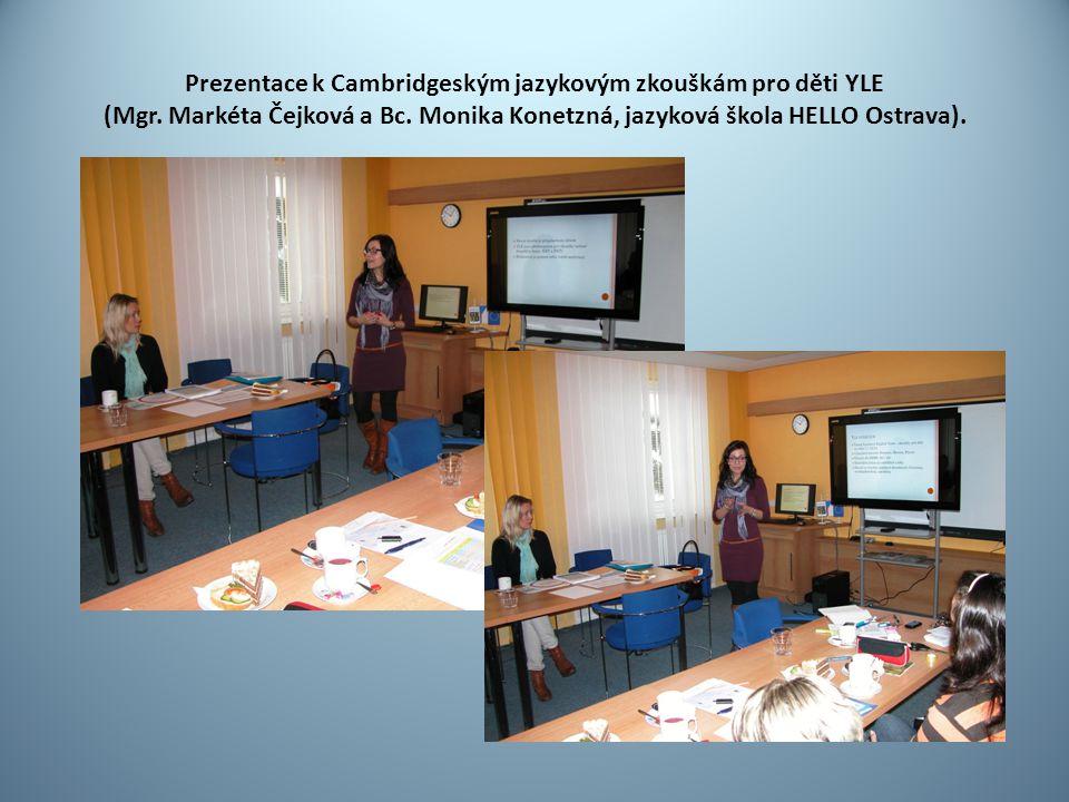 Prezentace k Cambridgeským jazykovým zkouškám pro děti YLE (Mgr