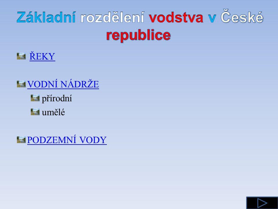 Základní rozdělení vodstva v České republice