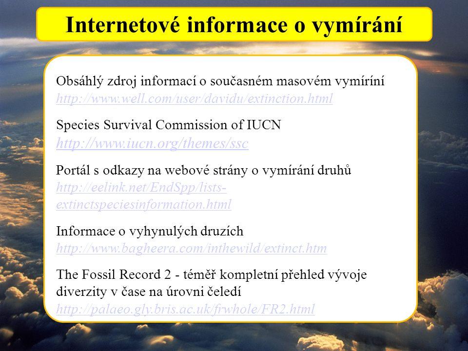 Internetové informace o vymírání