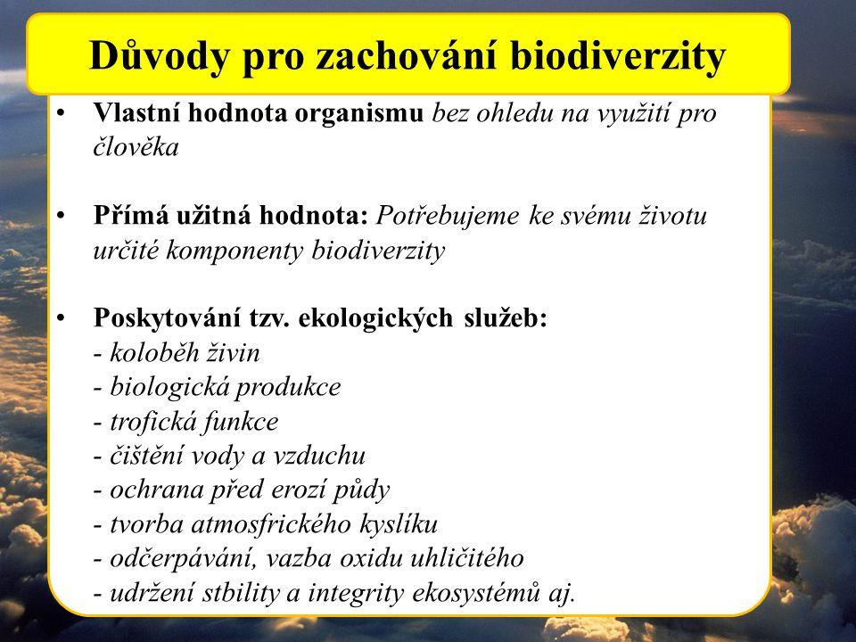 Důvody pro zachování biodiverzity