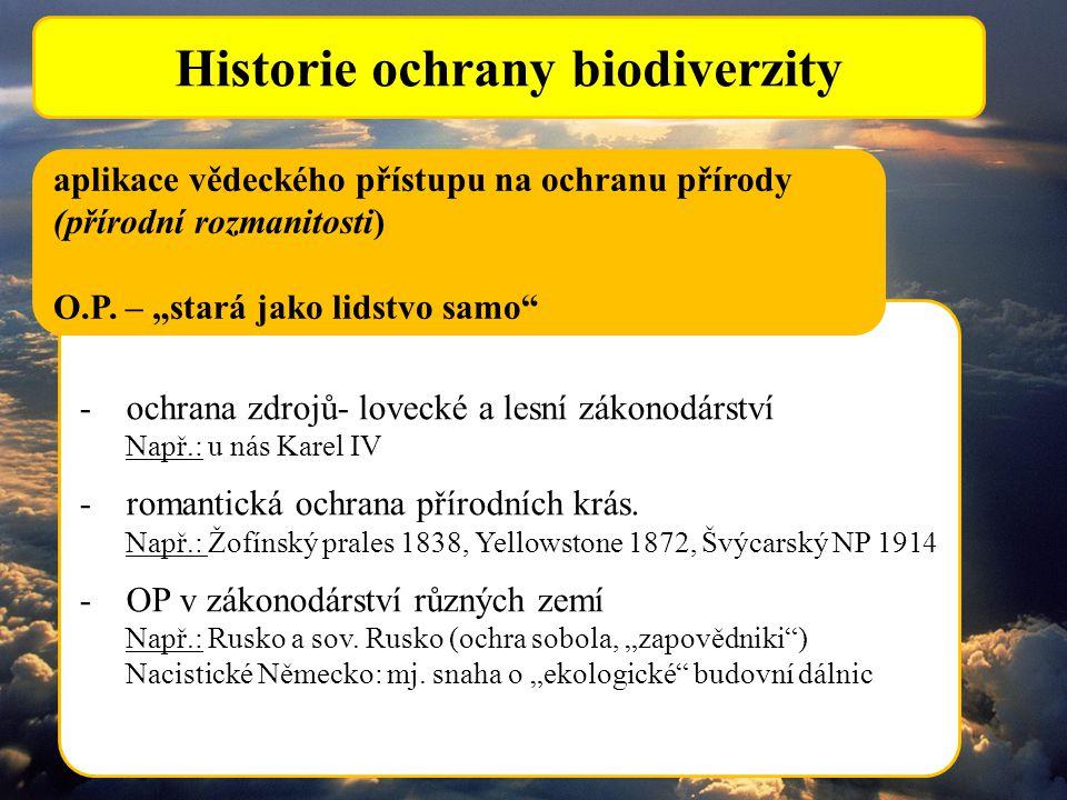 Historie ochrany biodiverzity