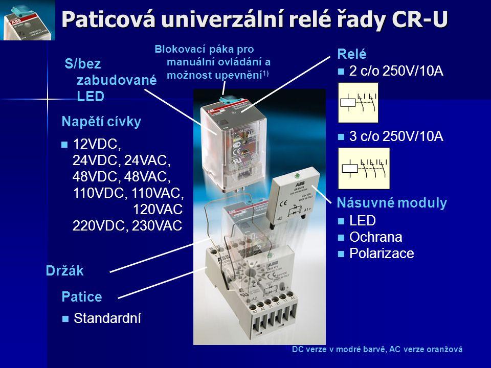 Paticová univerzální relé řady CR-U
