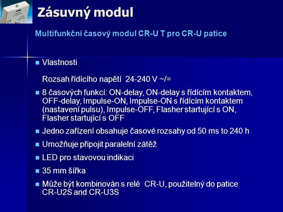 Zásuvný modul Multifunkční časový modul CR-U T pro CR-U patice