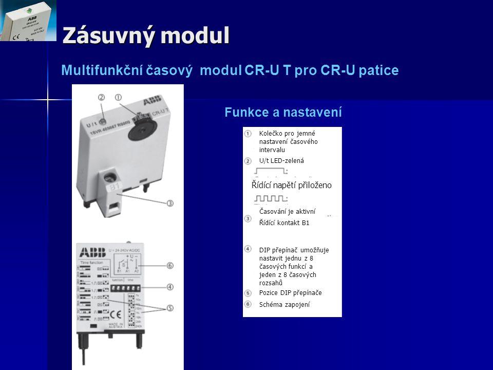 Zásuvný modul Funkce a nastavení