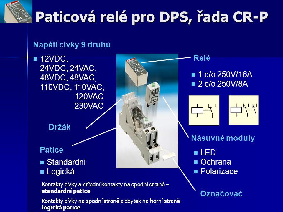 Paticová relé pro DPS, řada CR-P