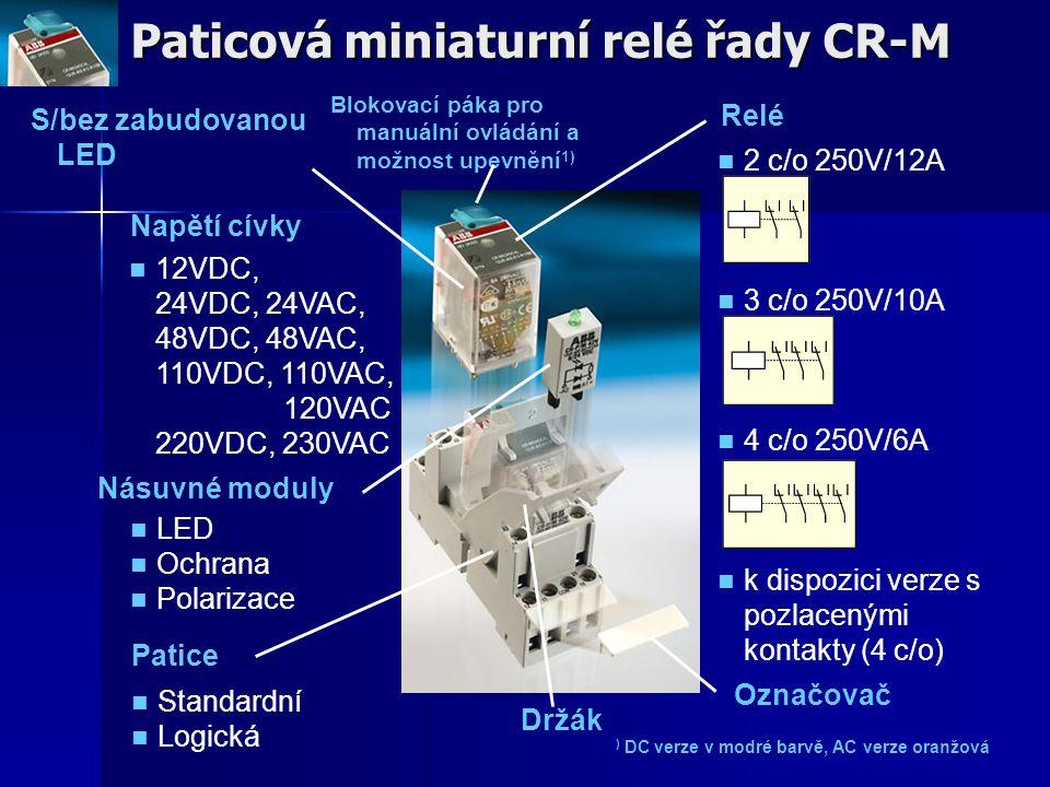 Paticová miniaturní relé řady CR-M