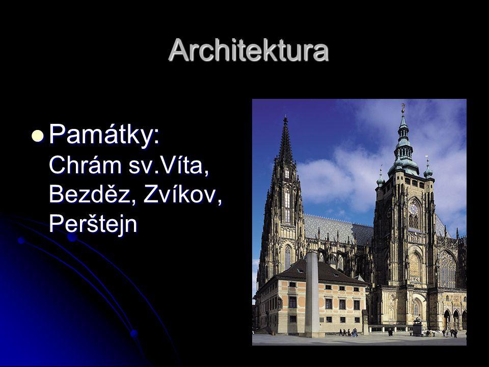 Architektura Památky: Chrám sv.Víta, Bezděz, Zvíkov, Perštejn
