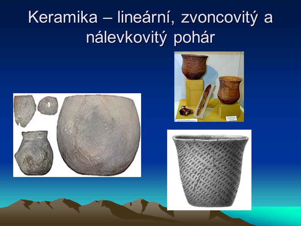 Keramika – lineární, zvoncovitý a nálevkovitý pohár