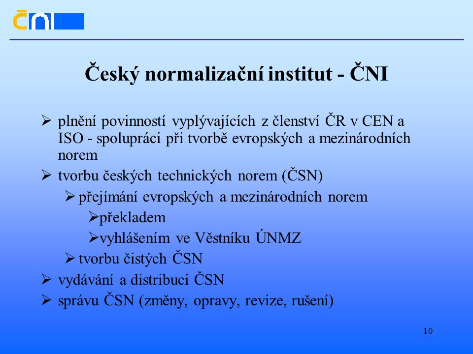 Český normalizační institut - ČNI