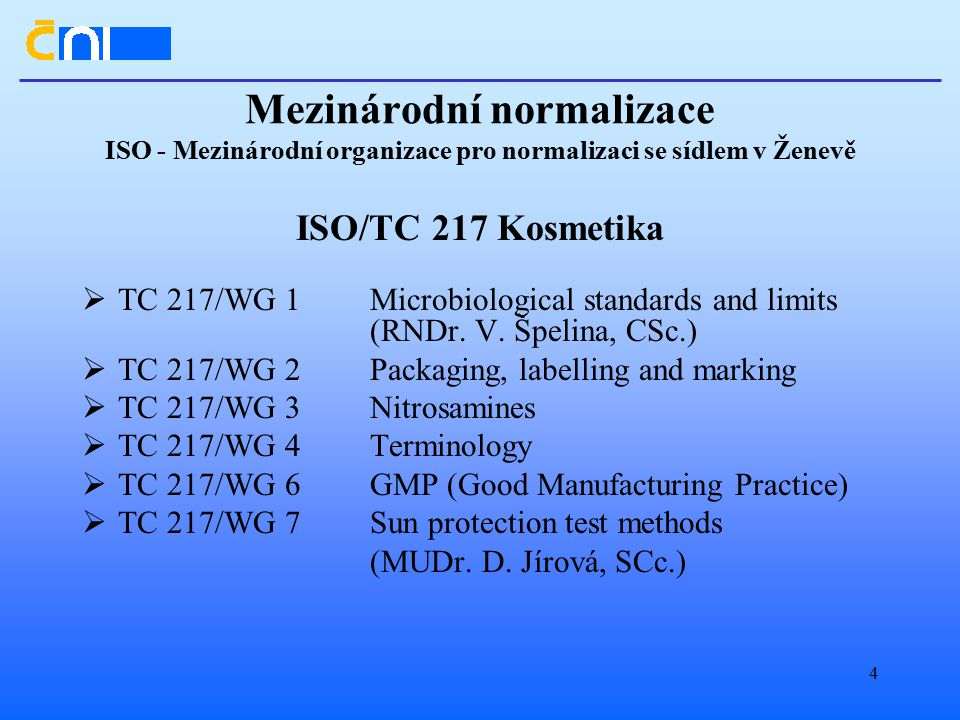 Mezinárodní normalizace ISO - Mezinárodní organizace pro normalizaci se sídlem v Ženevě