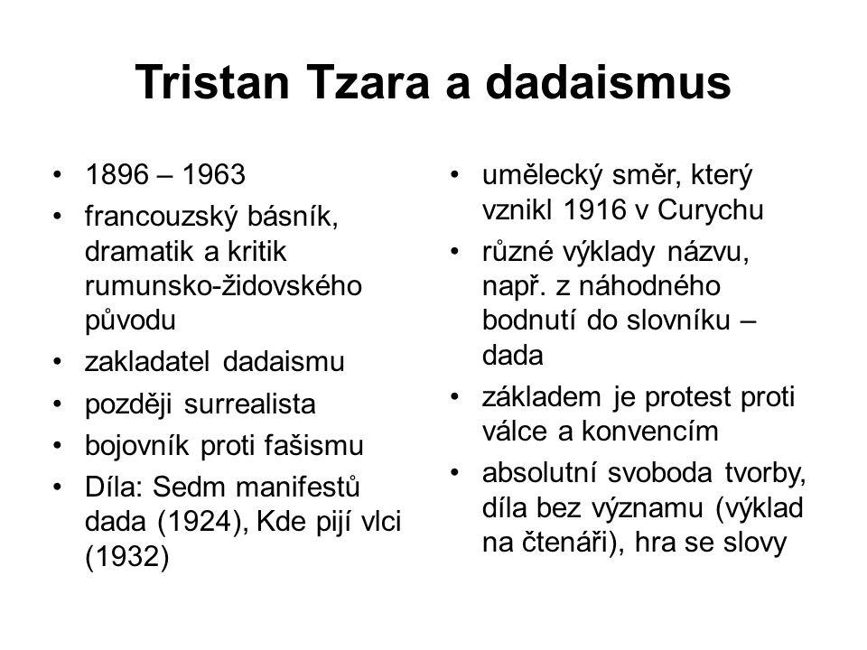 Tristan Tzara a dadaismus