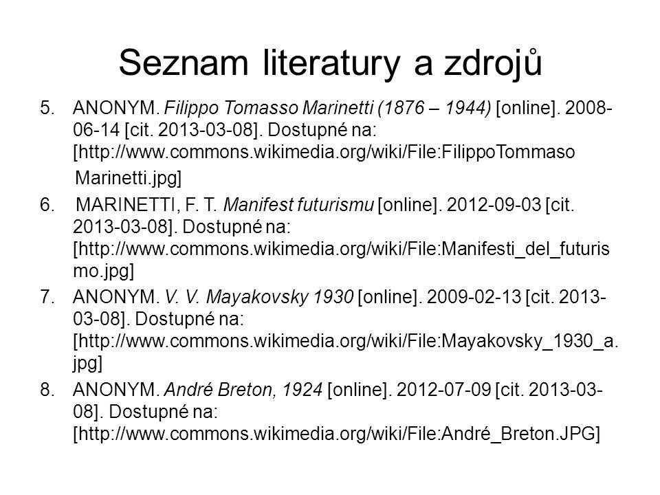 Seznam literatury a zdrojů