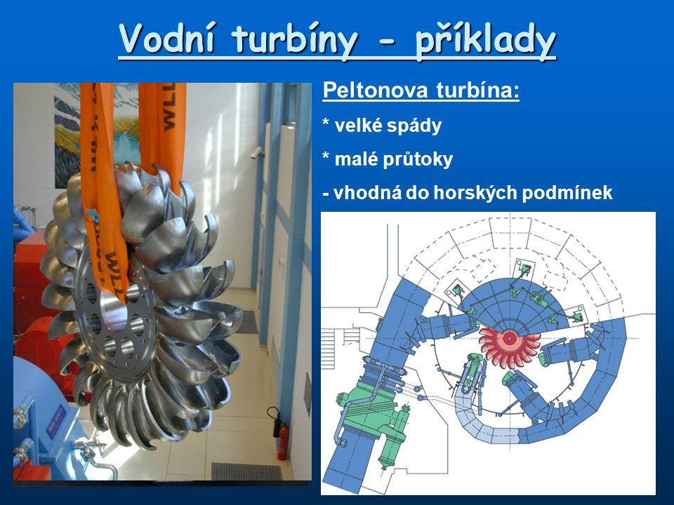 Vodní turbíny - příklady
