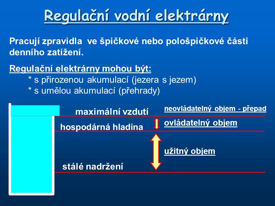 Regulační vodní elektrárny