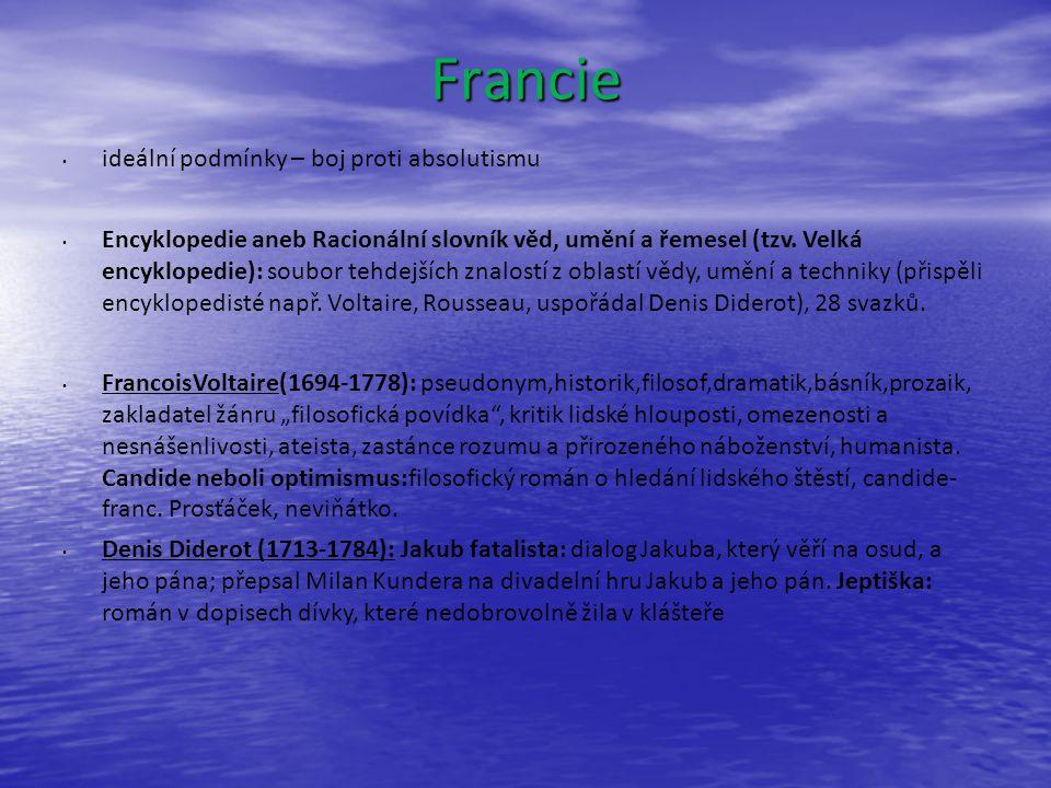 Francie ideální podmínky – boj proti absolutismu