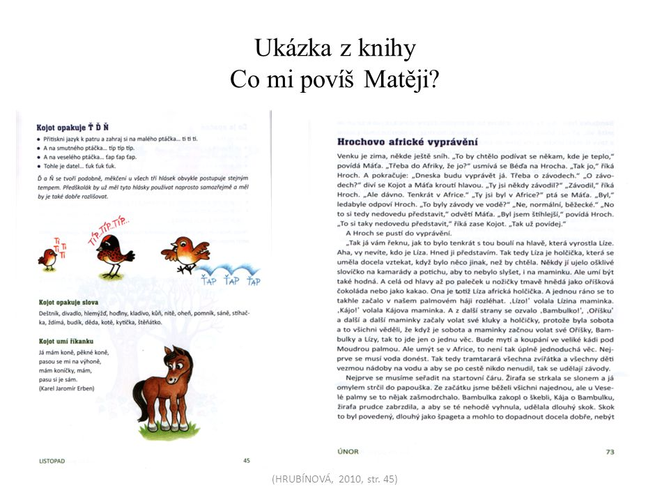 Ukázka z knihy Co mi povíš Matěji