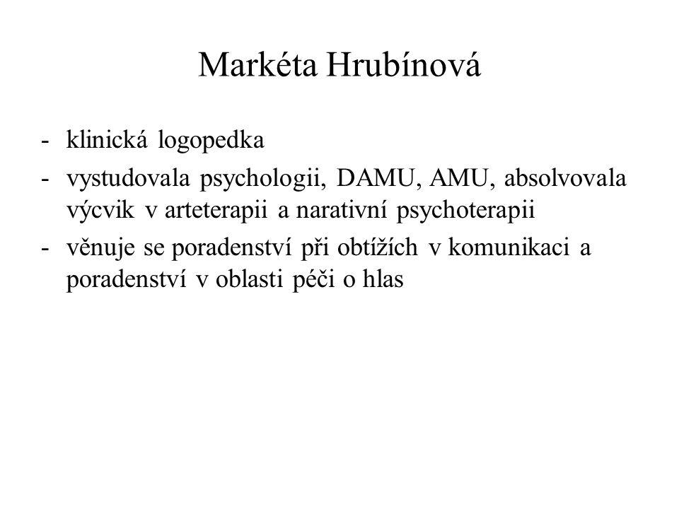 Markéta Hrubínová klinická logopedka