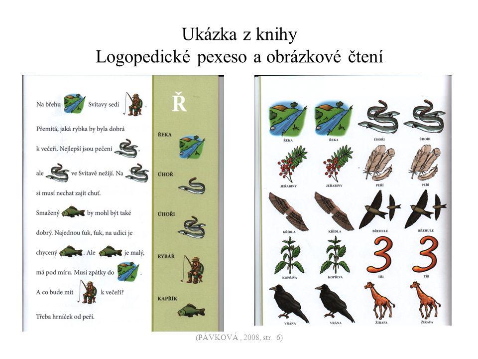 Ukázka z knihy Logopedické pexeso a obrázkové čtení