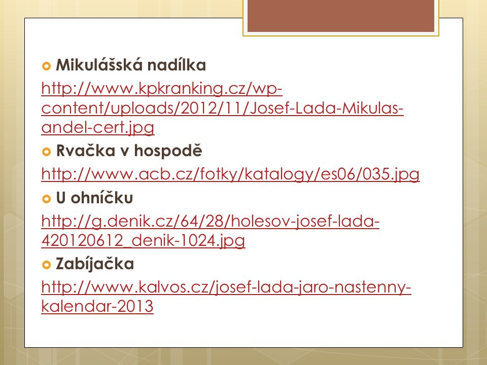 Mikulášská nadílka http://www.kpkranking.cz/wp-content/uploads/2012/11/Josef-Lada-Mikulas-andel-cert.jpg.