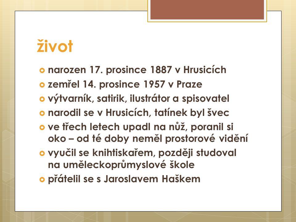 život narozen 17. prosince 1887 v Hrusicích