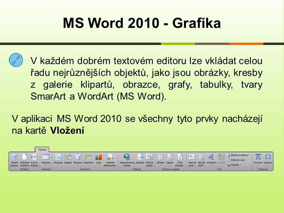 MS Word Grafika