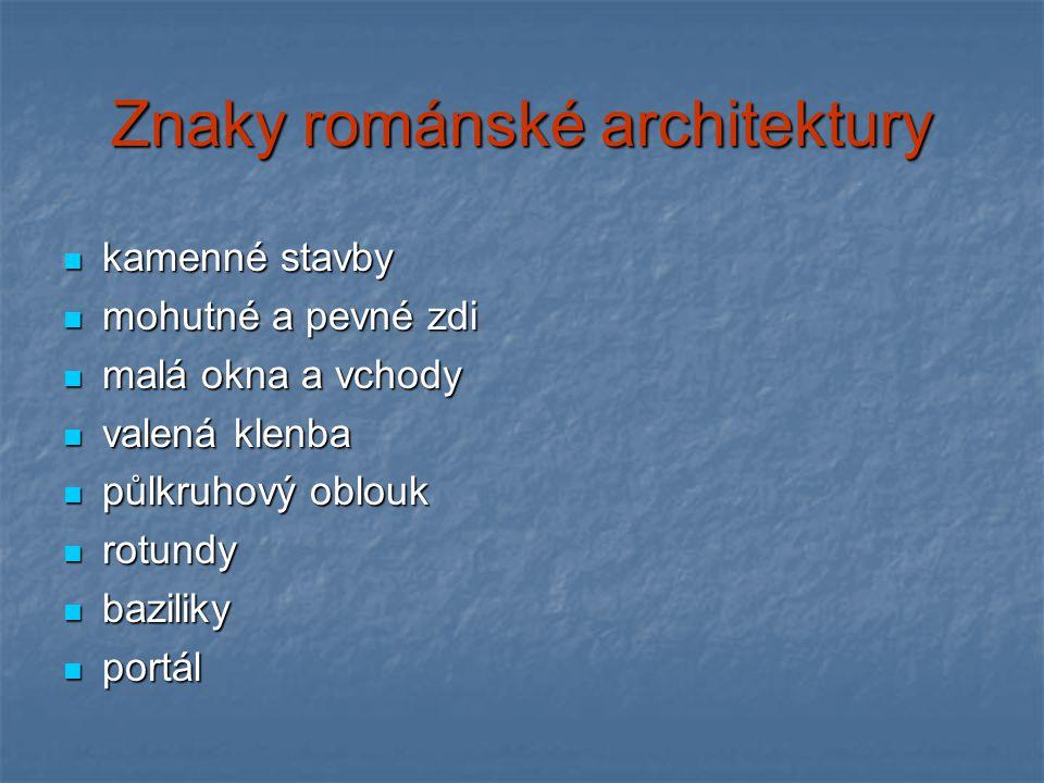 Znaky románské architektury