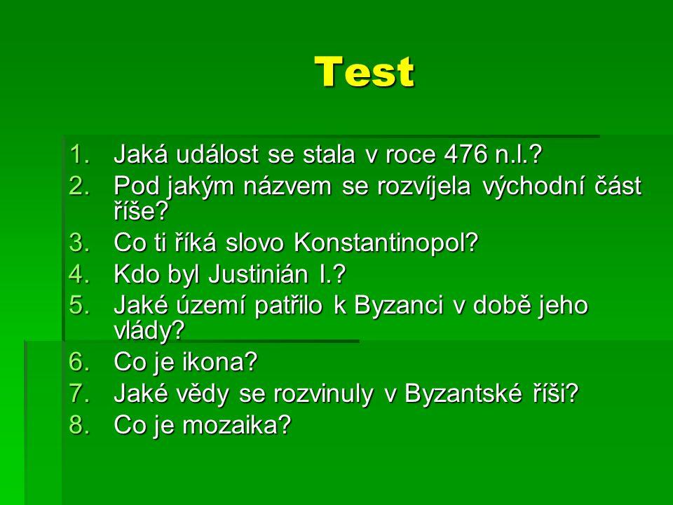 Test Jaká událost se stala v roce 476 n.l.