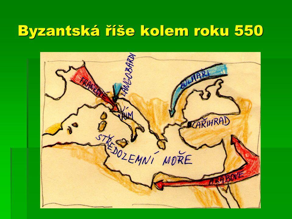 Byzantská říše kolem roku 550