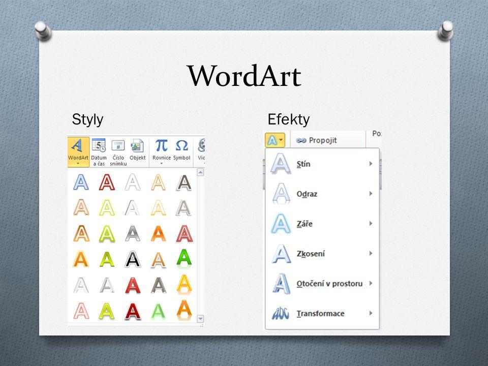 WordArt Styly Efekty